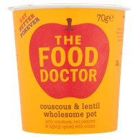 The Food Doctor couscous & lentil wholesome pot