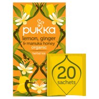 Pukka lemon, ginger & manuka honey herbal tea 20s
