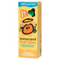 Innocent kids mango and pineapple fruit tubes, 6x40g