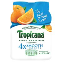 Tropicana orange juice smooth no bits