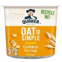 Quaker Oats So Simple golden syrup porridge cereal pot