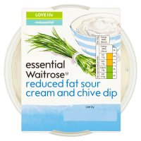 essential Waitrose reduced fat sour cream & chive dip