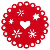 Waitrose Dining heart felt coasters