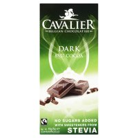 Cavalier Fairtrade Dark 85% Cocoa with Stevia