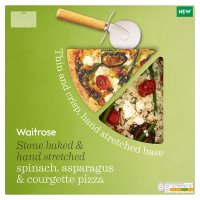 Waitrose spinach, asparagus & courgette pizza