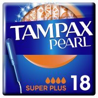 Tampax Pearl Super Plus Applicator Tampon Single 18PK