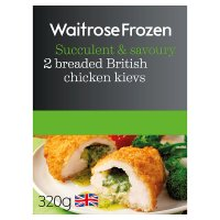 Waitrose 2 Frozen British chicken kievs