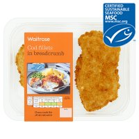 Waitrose MSC 2 cod fillets in breadcrumbs