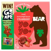 Bear for kids 100% fruit strawberry yo yos