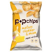 Popchips Mature Cheddar & Onion Potato Chips