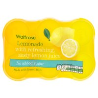 Waitrose lemonade with lemon juice low calorie