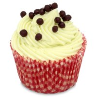 Waitrose White Chocolate & Lime Cupcake