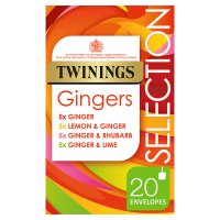 Twinings Gingers Selection 20 Tea Bags