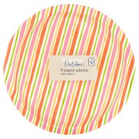 Waitrose Outdoors Multi Stripe Paper Plates