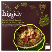 Higgidy spinach, feta & red pepper family quiche