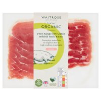 Duchy Originals from Waitrose 6 organic British cherrywood smoked air dried back bacon rashers