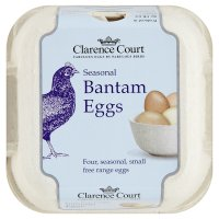 Clarence Court free range seasonal bantam eggs
