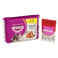 Whiskas Oh So meaty delicious in gravy pouch cat food