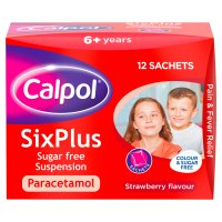 Calpol six plus sugar free sachets