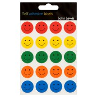 John Lewis smiley face labels