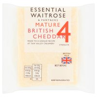 Essential Waitrose cheddar english (mature)