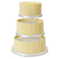 White Chocolate Wedding Cake - Plain - Raised 3 Tier
