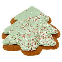 Iced gingerbread tree biscuit