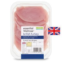 essential Waitrose British turkey breast escalopes