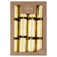Waitrose Christmas crackers gold