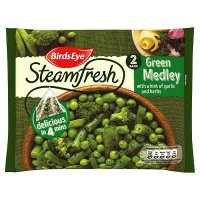 Birds Eye 2 Green medley with a hint of garlic & herbs frozen