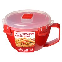 Sistema 940ml red noodle bowl