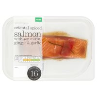 Waitrose Oriental spiced salmon with soy, mirin, ginger