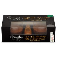 Waitrose Seriously 2 chocolate cheesecakes with caramel sauce