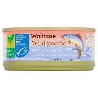 essential Waitrose MSC wild pacific red salmon