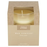 Wax Lyrical vanilla & tonka glass candle
