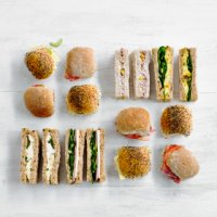 Finger sandwiches & mini rolls platter 20 pieces