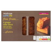 Waitrose LOVE life gluten free ginger cake slices