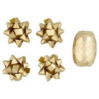 Waitrose gold tube ribbon & bows pack