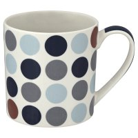 Waitrose blue spot fine china mug
