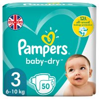 Pampers Baby Dry 3 Essential 52 Nappies