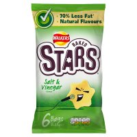 Walkers Baked Stars salt & vinegar multipack crisps