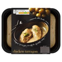 menu from Waitrose chicken tarragon