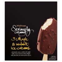 Waitrose Seriously 3 maple & walnut ice creams