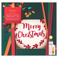 Waitrose Christmas iced fruit cake