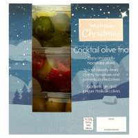 Waitrose Christmas Cocktail Olive Trio