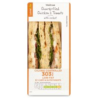 Waitrose LoveLife Calorie Controlled chargrilled chicken & tomato sandwich