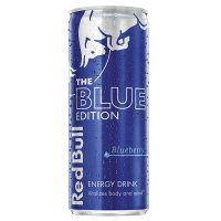 Red Bull blue edition energy drink, blueberry flavour