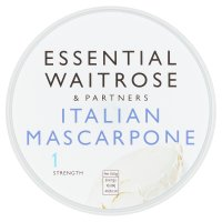 essential Waitrose Italian Mascarpone cheese, strength 1