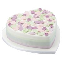 Fiona Cairns Pastel Rose Petal Celebration Cake (Fruit)