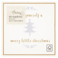 Waitrose Home Merry Little Christmas Napkins